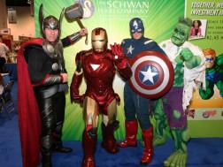 Avenger Superheros Thor, Iron Man, Captain America, and Hulk